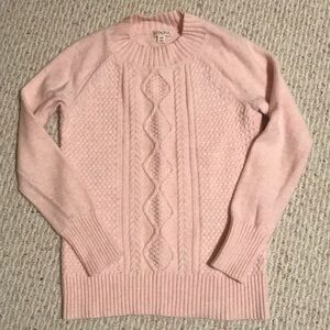 Baby Pink Woven Sweater